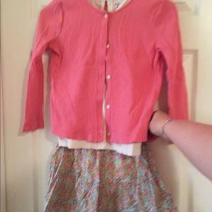 Cute cardigan/tank/skirt set